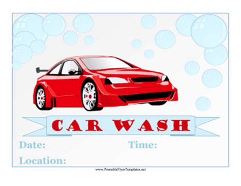 car wash template car wash flyer