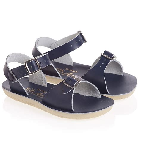 the sandals sun san sandals navy blue leather salt water sandals