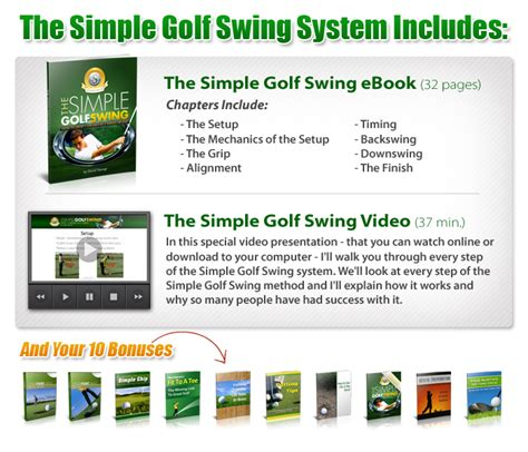 the simple golf swing ebook the simple golf swing system pdf