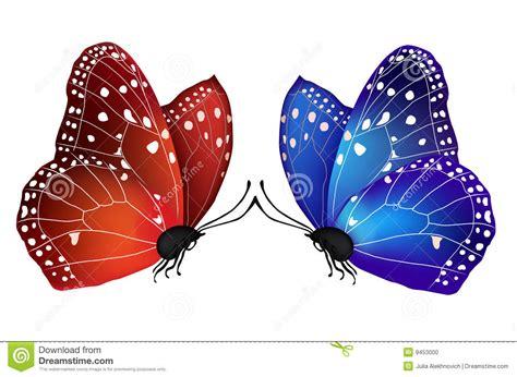 imagenes de dos mariposas juntas mariposas del vector dos en amor ilustraci 243 n del vector