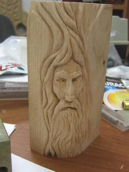wood spirit carving patterns  plans  wood
