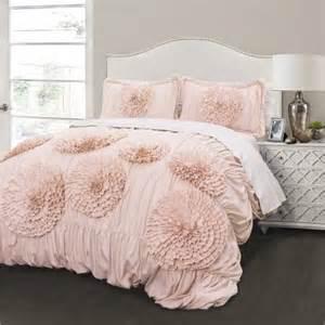 blush colored bedding serena comforter pink blush 3 set walmart