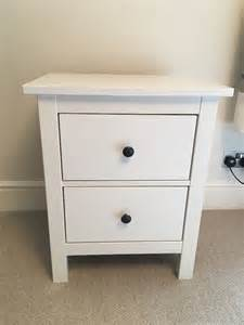 ikea hemnes 2 drawer bedside chest of drawers white in