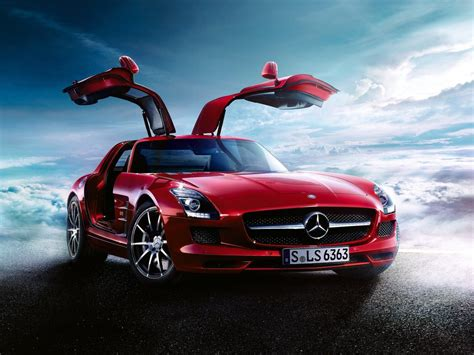 cars mercedes red free wallpaper a red mercedes benz car free wallpaper world