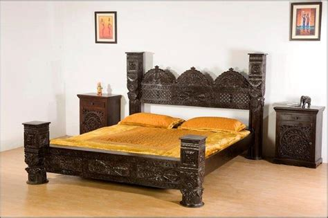 pillar bedding monsooncraft com indian hardwood carved canopy bed designs
