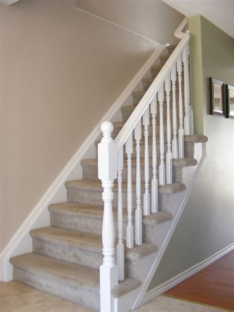 White Banister Rail simple white stair railing decorating