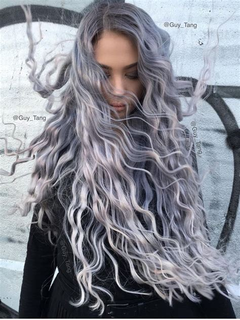 salt and pepper hair with lilac tips 1000 ideas about grey ombre on pinterest black to grey