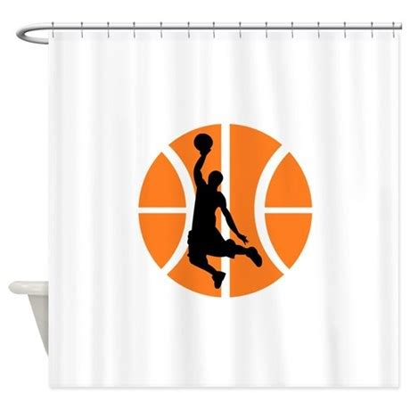 basketball curtain rod basketball player shower curtain by yoursportsgifts