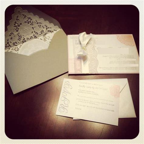 diy lace doily wedding invitations diy lace invitations weddingbee photo gallery