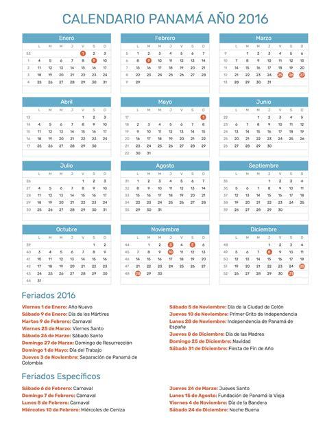 dias feriados en panama 2016 calendario panam 225 a 241 o 2016 feriados