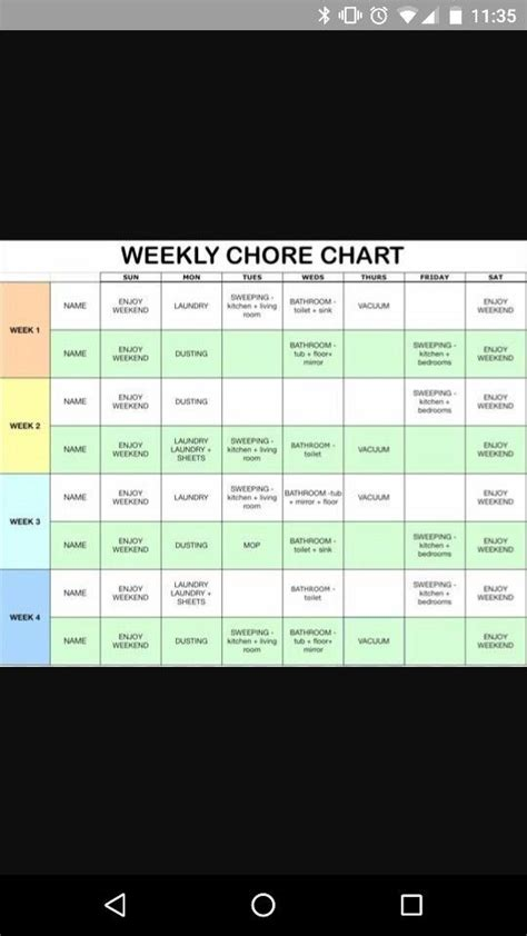 Couple Charts And Chore Charts On Pinterest Couples Chore Chart Template