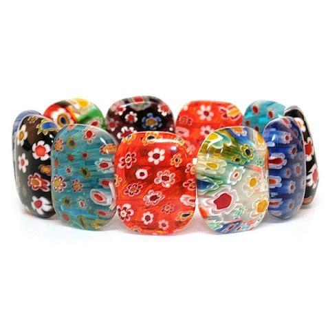 mille fiori bracelet oval bead made with millefiori glass joe cool shop