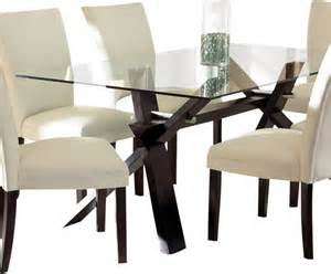Traditional Glass Dining Tables Steve Silver Berkley Clear Glass Top Dining Table In Espresso Traditional Dining Tables By