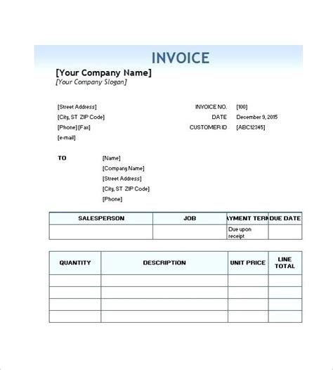 Translation Receipt Template by Invoice Template For Services Free Downloadable Service