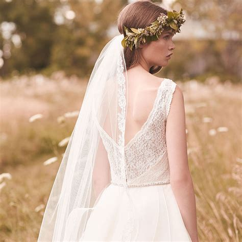Wedding Veil by Fall Fingertip Length Wedding Veil Lace Applique Accented