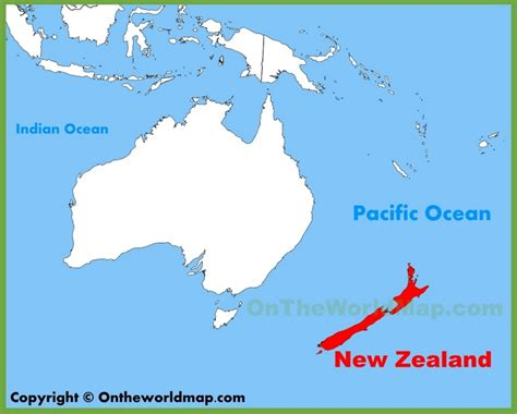 Pdf Where Is New Zealand Located by New Zealand Location On The Oceania Map