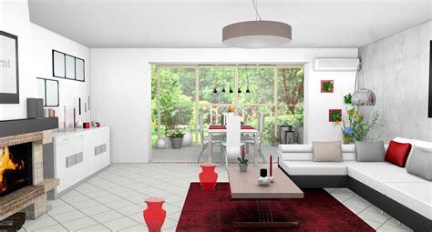 Délicieux Decoration Salle A Manger Gris Et Blanc #2: Sejour-salle-a-manger-veranda-design-moderne-verrière-laque-blanc-gris-touches-rouges-5.jpg
