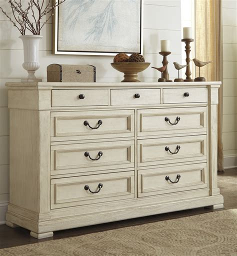 Antique White Dresser Bedroom Furniture Furniture Bolanburg Antique White Finish Bedroom Dresser With 9 Drawers Ebay