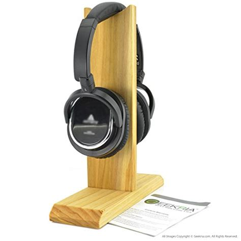 on ear headphones wooden headphones stand wood headset