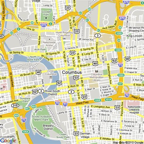 map of columbus columbus ohio state map images