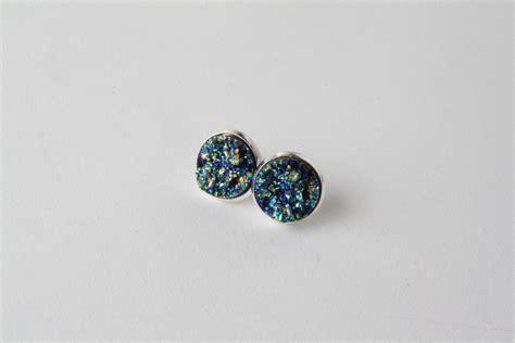 druzy stud earrings druzy style earrings faux druzy