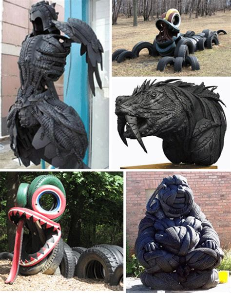 rubber st artwork used tires recycled tire rubber furniture design