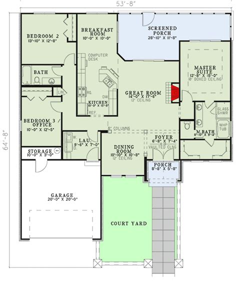 floor plans with courtyard open floor plan with courtyard 59851nd architectural