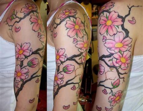 Fruit Tattoo Images Designs Cherry Blossom Arm Tattoos