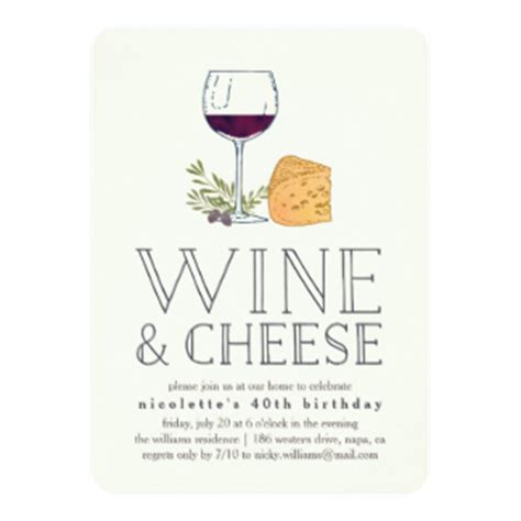 wine and cheese invitation template wine invitations announcements zazzle
