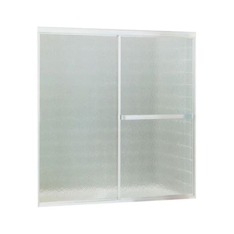 Home Depot Bathtub Shower Doors Sterling Standard 52 In X 56 7 16 In Framed Sliding Tub Shower Door In Silver 690b 52s The