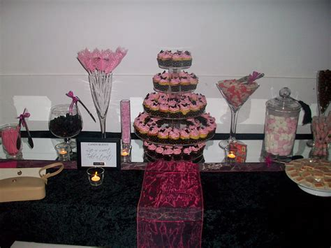 Lolly Sweet Buffets Cakes By Simone Pink And Black Buffet