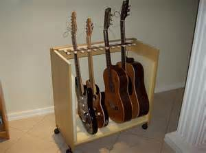 Homemade Guitar Cabinet Multiple Guitar Stand Made Out Of An Old Computer Table