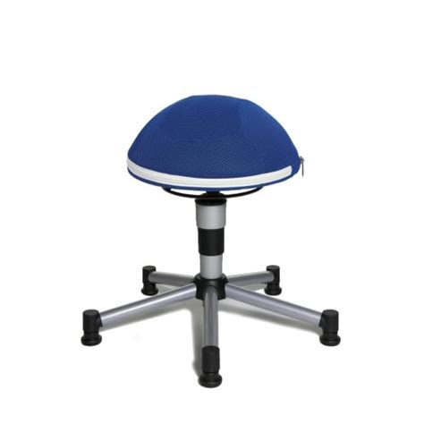 Stool And Gas by Sitness Junior Half Blue Mesh Fabric Gas Lift Stool