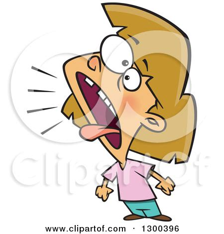 clipart yelling cartoon woman yelling clipart clipground