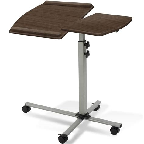 rolling laptop desk table rolling laptop desk in laptop stands
