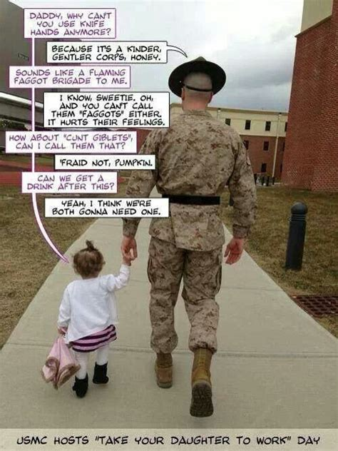 Funny Marine Corps Memes - funny usmc drill sergeant and his daughter funny stuff