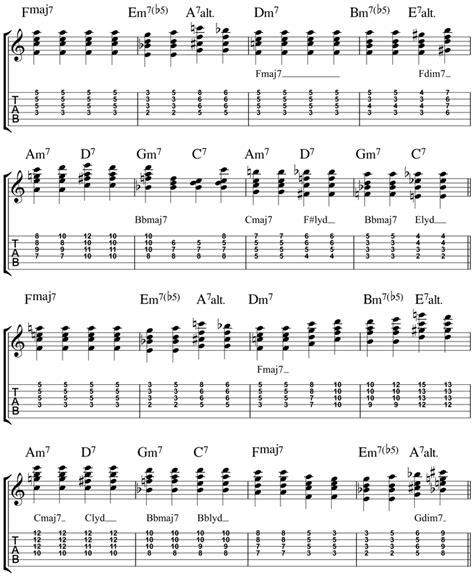chord jazz guitar tutorial georgia on my mind guitar chords