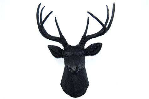 fake deer matte black faux deer head deer head antlers fake