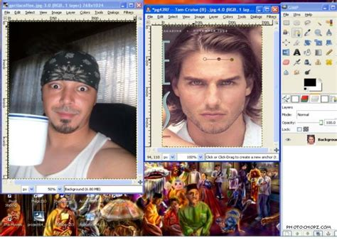 tutorial face swap photoshop cs3 face swap using gimp gimp pinterest face swaps