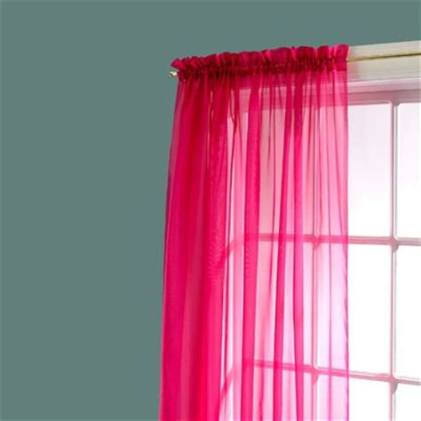 amore 54x84 window set with attached valance kmartcom bright voile window panel pink