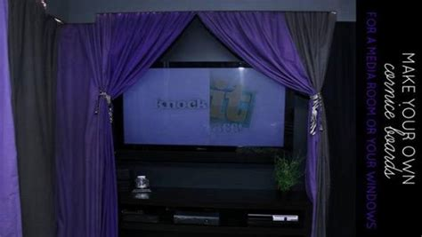 how to make stage curtains diy cornice boards and theater curtains knock it off