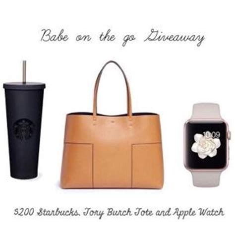Tory Burch Gift Card - contest win 200 starbucks gift card tory burch tote and apple watch