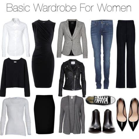 garde robe minimaliste femme basic wardrobe for mode vetement