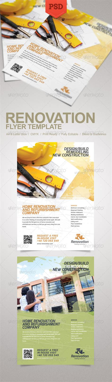 creative flyer design graphicriver renovation flyer graphicriver