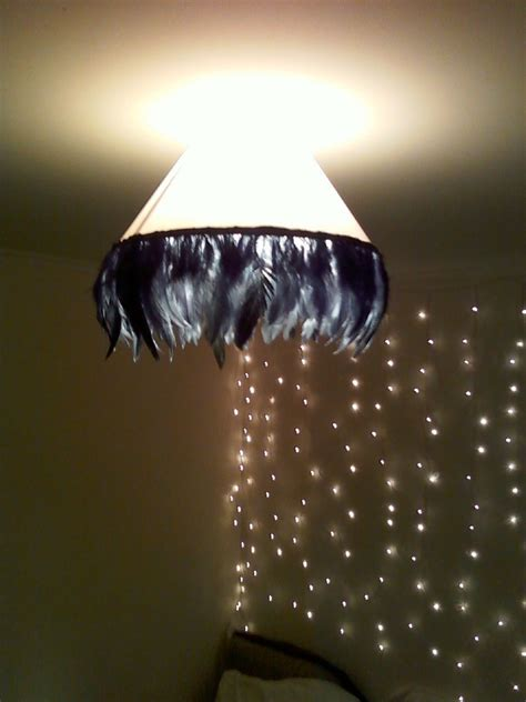 Feathers Ceiling by Vintage Glam Feather Lshade From Ceiling Shade