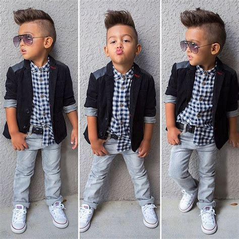 Set Kid Denim 3 3pcs baby boys dress suit coat plaids shirt denim