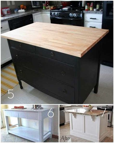dresser kitchen island diy discover and save creative ideas