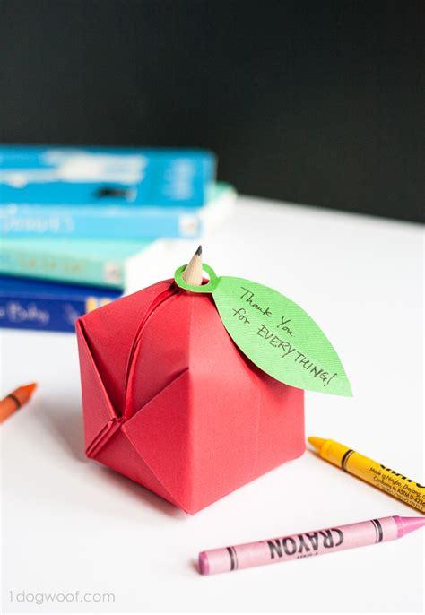 Origami Apple - origami apple favor