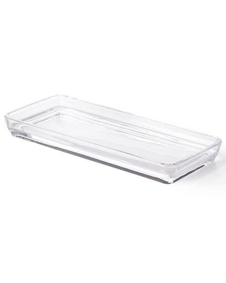 glass bathroom tray waterworks studio clear glass vanity tray