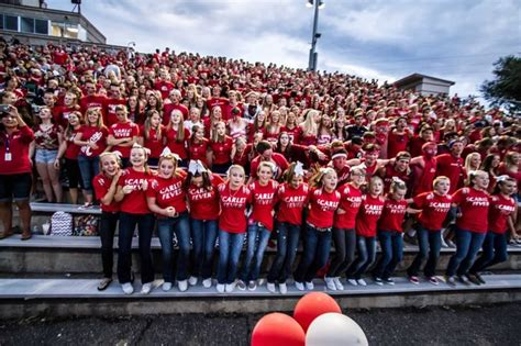 Best Student Section In College Football by 17 Best Images About Pep On School Football Run And Homecoming Week